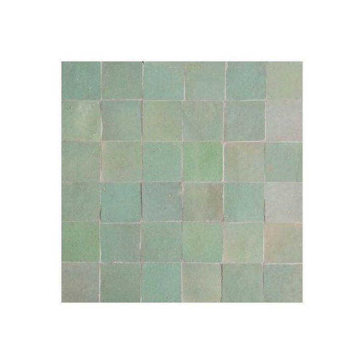 Mintgrüne marokkanische Fliese Mintgrün Zellige line