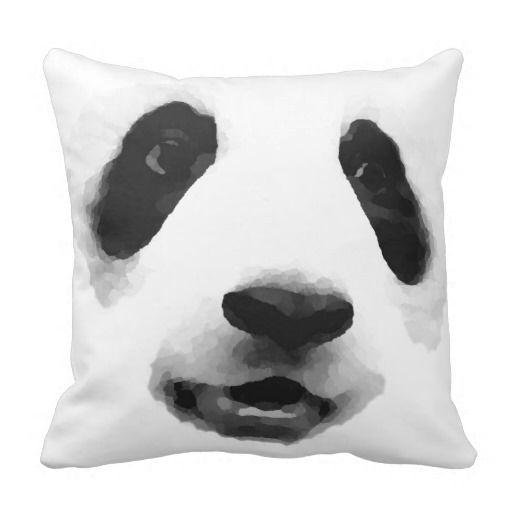 Pop Art Panda Throw Pillows