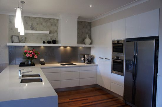 Floating Shelves, No Handles, 2 pac finish - m2o cabinets, Kitchen Renovation, Murarrie, QLD, 4172 - TrueLocal