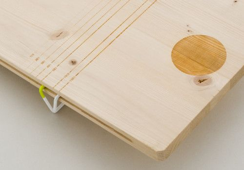 Balanced is a minimalist design created by France-based designer Pierre-Francois Dubois. These two cutting boards playfully integrate a scale into the design of the traditional cutting board. The first allows the user to adjust the scale to determine weight, while the other board is used to counter-measure weights of two different objects. (5)