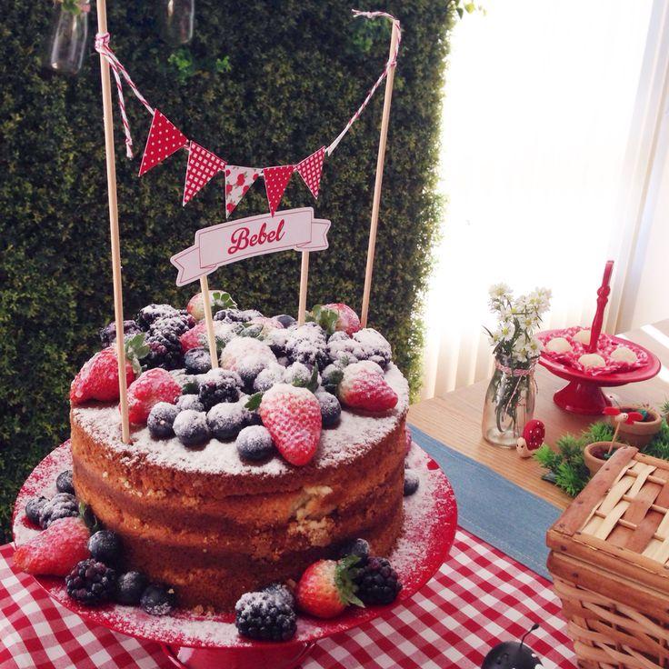 Naked cake. Picnic da Bebel. Festa Infantil