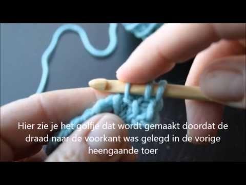 Tunisch haken, de Honingraad steek - Tunisian crochet