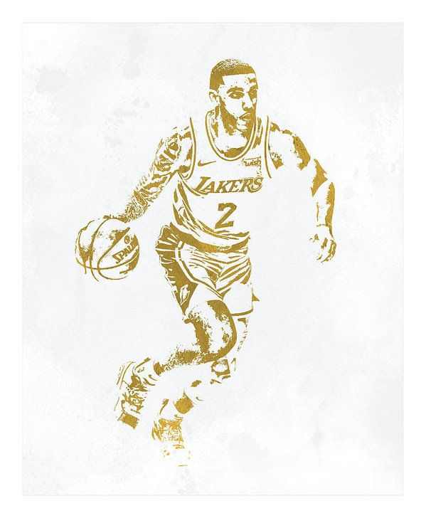 a4475a5f67a Lonzo Ball Los Angeles Lakers Water Color Pixel Art 1 Art Print by Joe  Hamilton