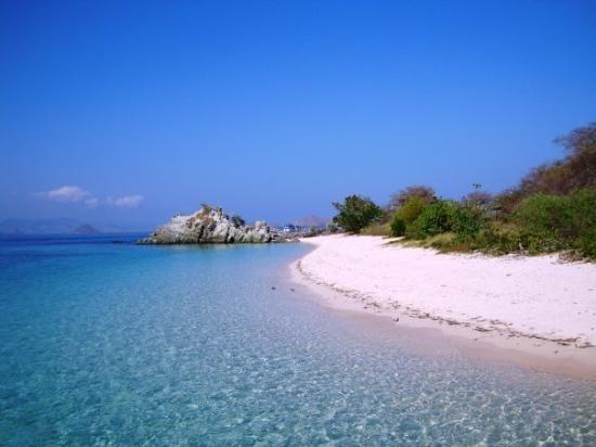 The beach at Labuan Bajo island