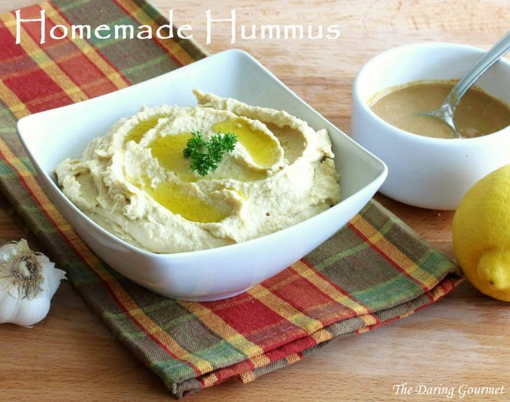 homemade hummus recipe garbanzo beans tahini Middle Eastern easy fast how to make