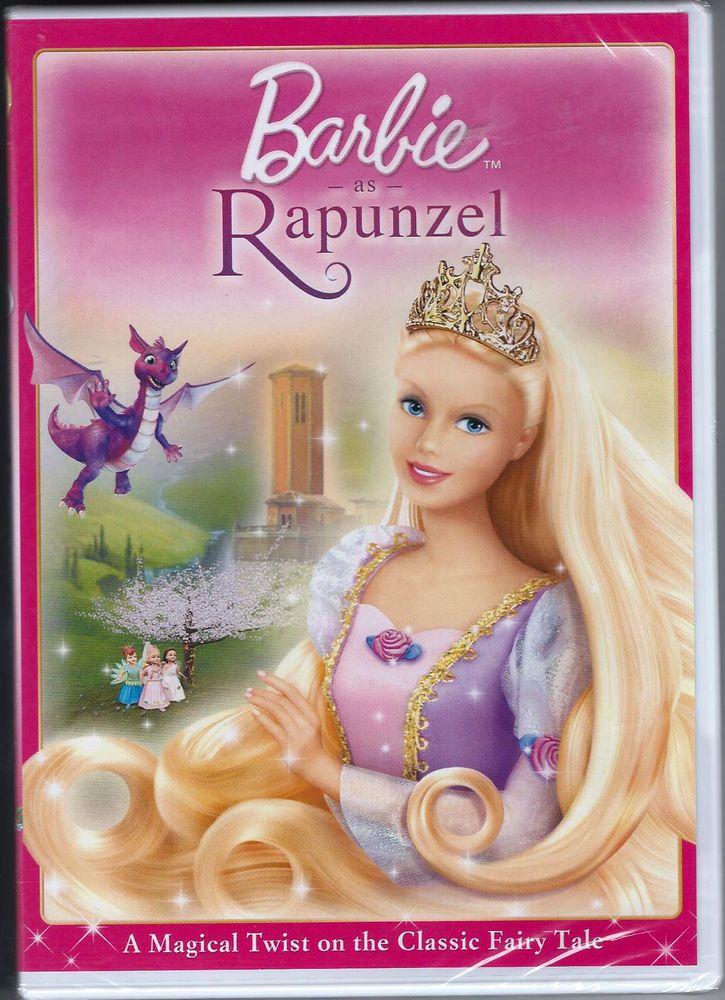 Barbie as Rapunzel DVD Kids Movie Dragon Castle Magic ...