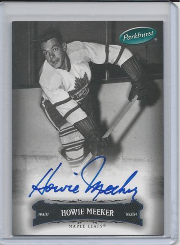SIGNED Howie Meeker 2007-08 Upper Deck Parkhurst # 74 Toronto Maple Leafs