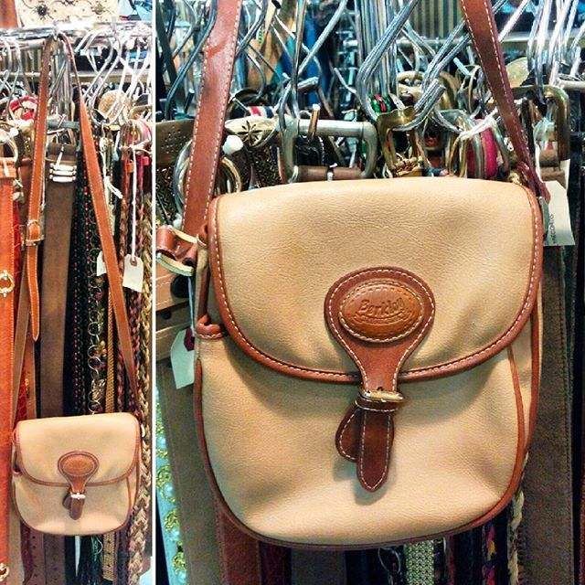 90s faux-leather saddlebag style purse.