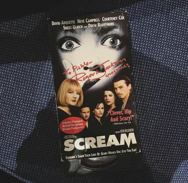Scream VHS Tape signed by the legendary voice actor of
