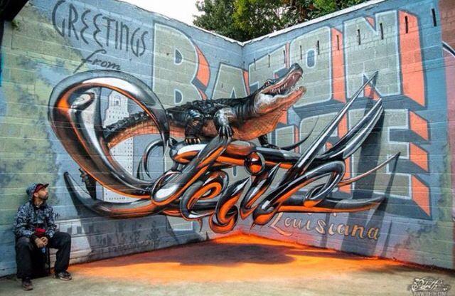 Love this croc street graffiti !