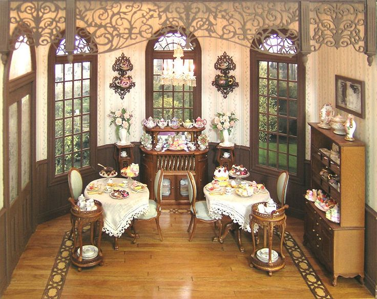 Miss Lydia's Tea Room - Class and Kit [OC-Miss Lydia3] : Cynthia Howe Miniatures!, Your premier source for Dollhouse Miniatures, Miniature Classes, Miniature Dolls and Molds, Kits and Free Tutorials.