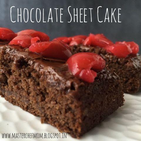 MASTERCHEFMOM: Chocolate Sheet Cake | Eggless Chocolate Cake recipe | How to makeChocolate Sheet Cake