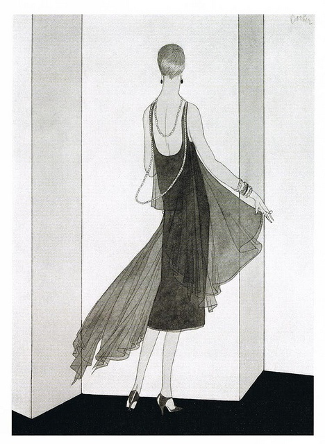 11-11-11 A lace and chiffon from Vogue Paris, 1927