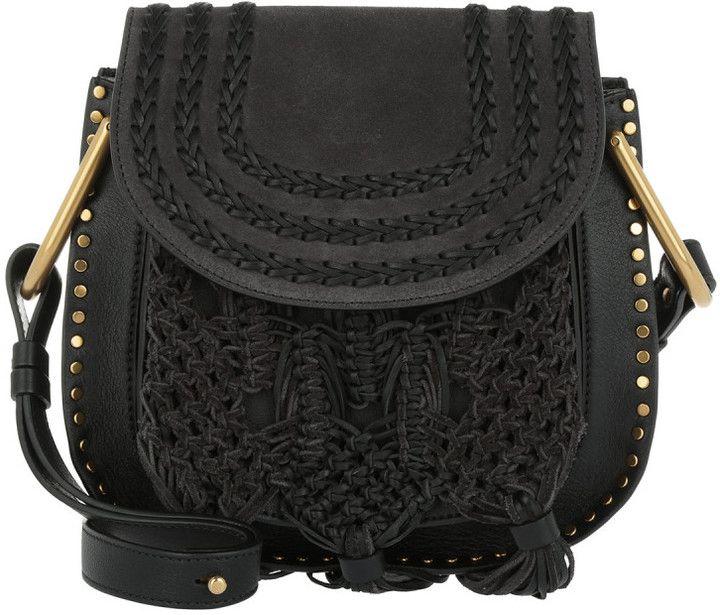 Chloé Tasche - Small Hudson Braids & Tassels Leather Crossbody Bag Black - in schwarz - Umhängetasche für Damen