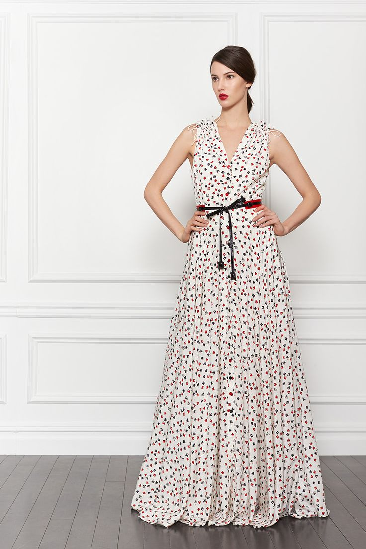 Perfect dress in which to attend a wedding from Carolina Herrera Pre-Fall 2013, via www.vogue.com