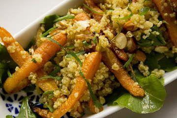 Roast carrot and quinoa salad