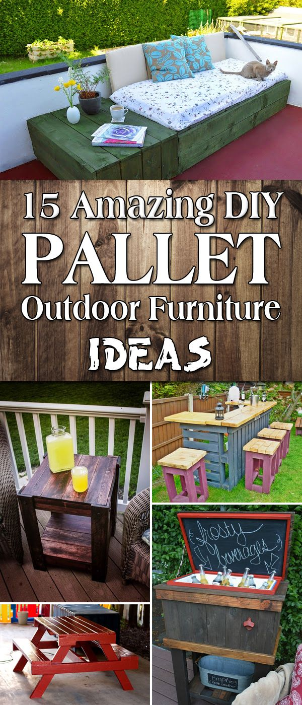 15 Amazing DIY Pallet Outdoor Furniture Ideas                                                                                                                                                                                 More