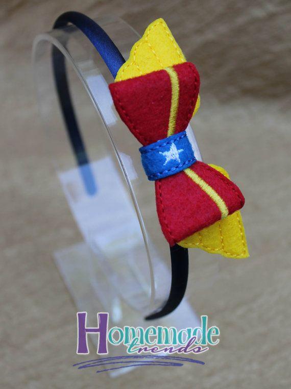 Wonder Hero Hair Accessory-Felt Wonder Hero 3D Bow-Wonder Hero Lady Hair…