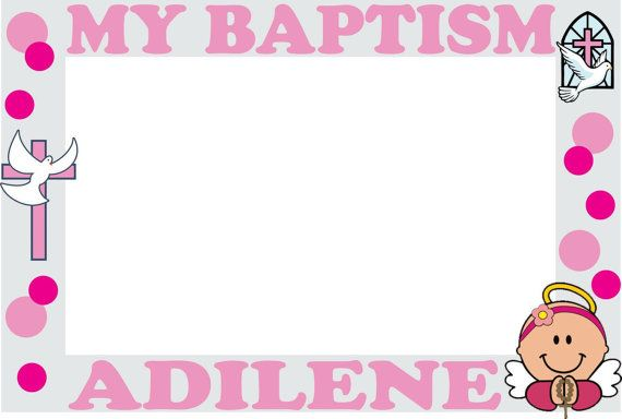 My Baptism photo booth frames frame by ScozShop on Etsy