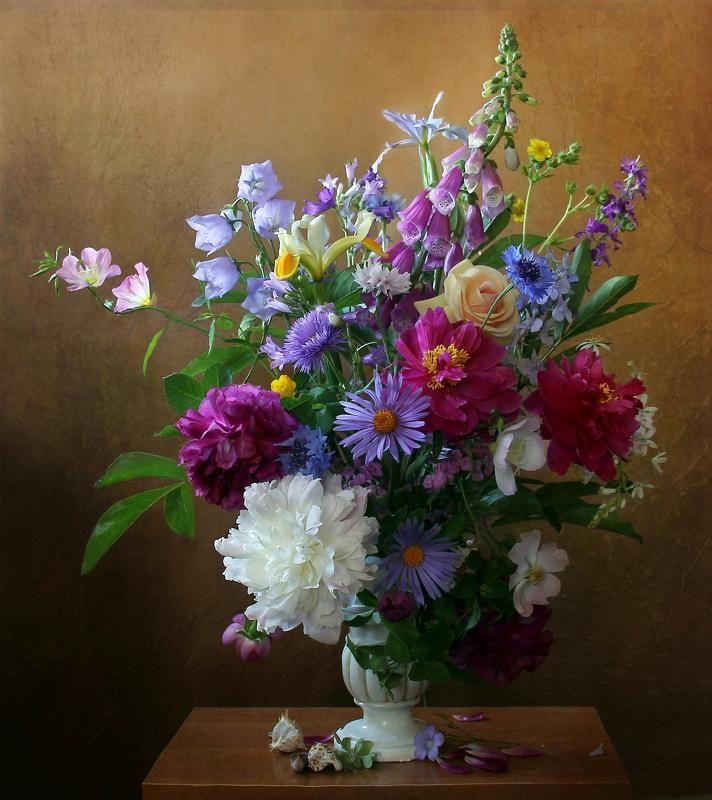 Днем рождения, картинки с красивыми букетами полевых цветов
