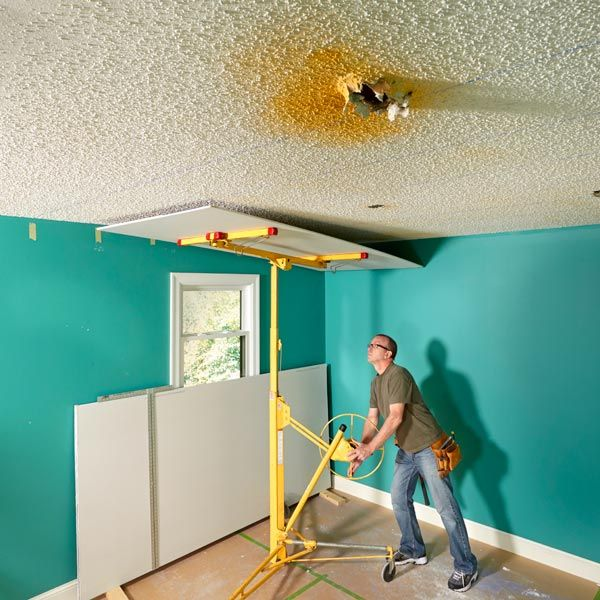 Do you want to remove or patch a popcorn ceiling? First, remember that removing a popcorn ceiling is a really dirty job. Second, patching a hole is just, well, patching a hole. You should consider simply covering the whole ugly mess with a new layer of drywall instead. It's probably the easiest way to get the best results.
