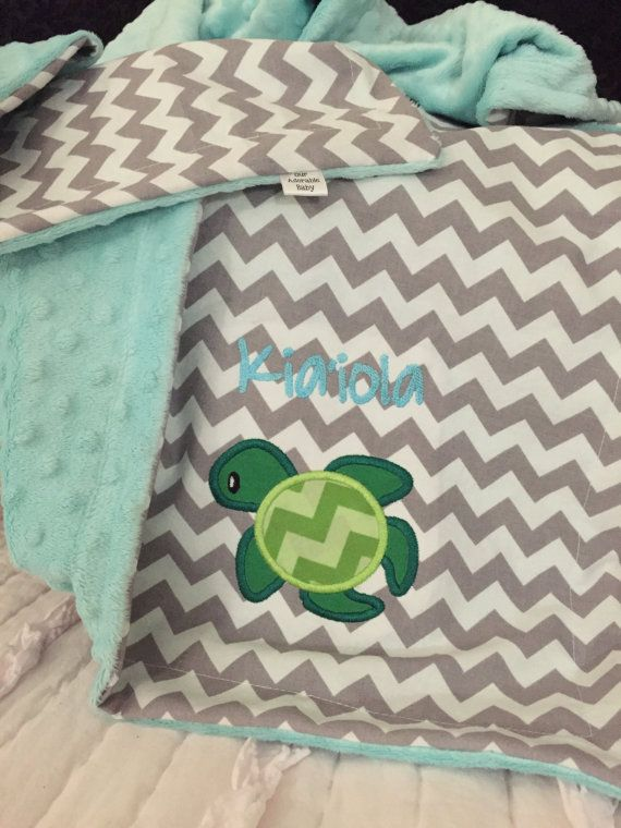 Sea Turtle Baby Blanket  Turtle Baby Blanket  by OurAdorableBaby
