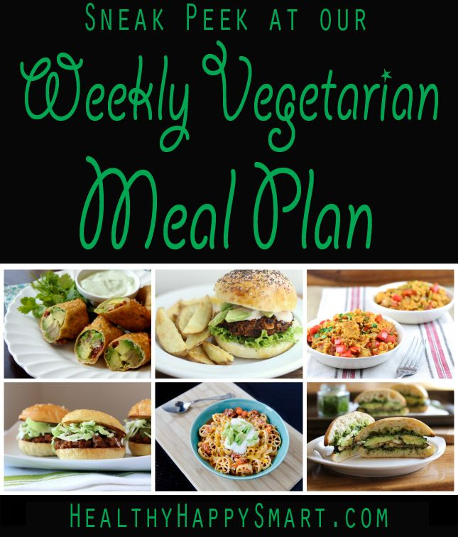 sneak peek at our vegetarian meal plans - Weekly, 4 meals a day. What do we give you? #HealthyHappySmart #Vegetarian