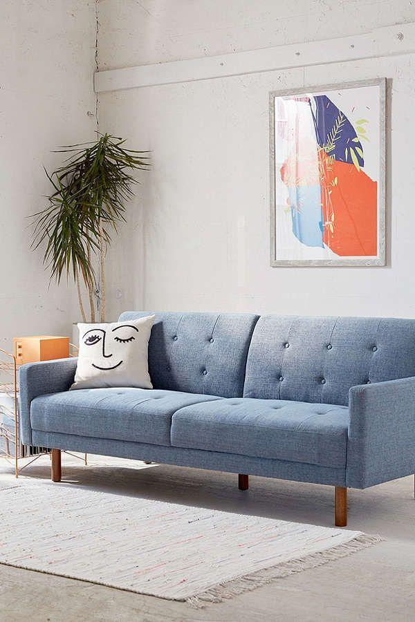 Slide View: 1: Berwick Mid-Century Sleeper Sofa