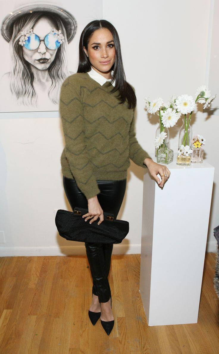 NEW YORK, NY - FEBRUARY 06: Actress Meghan Markle attends the Marc Jacobs Daisy Chain Tweet Pop Up Shop Party at Marc Jacobs Pop Up Shop on February 6, 2014 in New York City. (Photo by Bennett Raglin/Getty Images) via @AOL_Lifestyle Read more: https://www.aol.com/article/lifestyle/2017/05/17/prince-harry-meghan-markle-westminster-abbey-wedding/22095530/?a_dgi=aolshare_pinterest#fullscreen