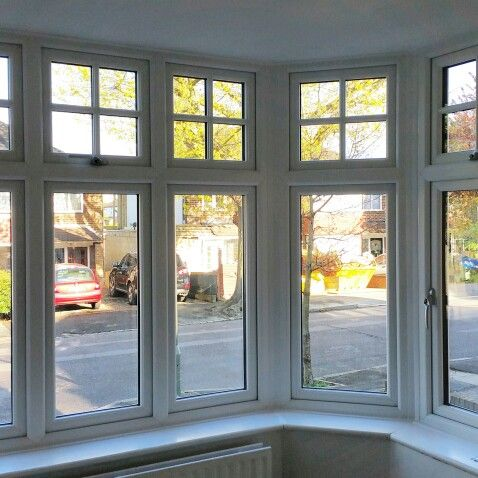 new living room windows a bay window on a 1930s house. Black Bedroom Furniture Sets. Home Design Ideas
