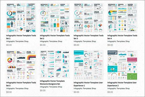 個人でも商用でも無料で利用できる、インフォグラフィックのベクター素材をInfographic Template Shopから紹介します。 Infographic Template Shop Infog