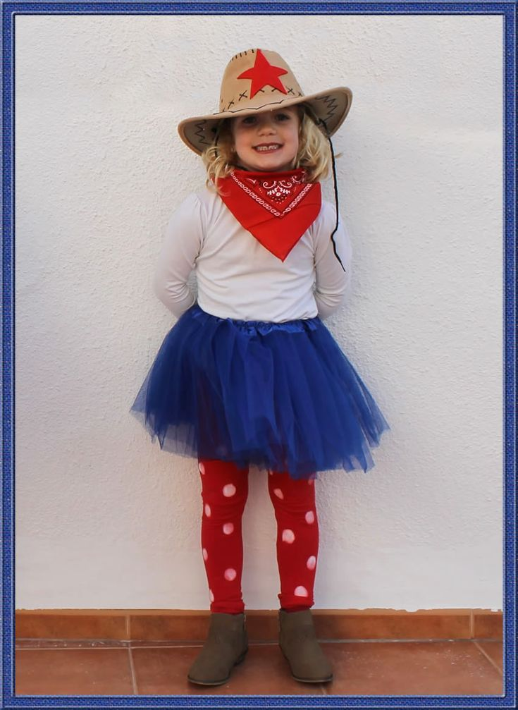 disfraz de vaquera para niña, muy fácil de hacer. #disfraz #tutu