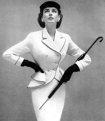 White suit from Lilli Ann of San Francisco