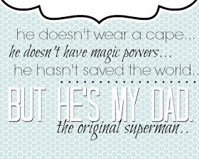 Tattered and Inked: Father's Day Free Printable {The Original Superman}