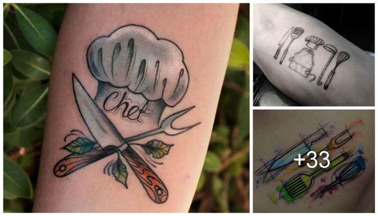 Si eres amante de la cocina o si estudias gastronomía, estos tatuajes para chef o amantes de la cocina te encantaran, ya que expresan el amor que sienten personas como tu hace el arte culinario.  Los utensilios para un cocinero son su herramientas para crear arte, asi como un lienzo o la piel para