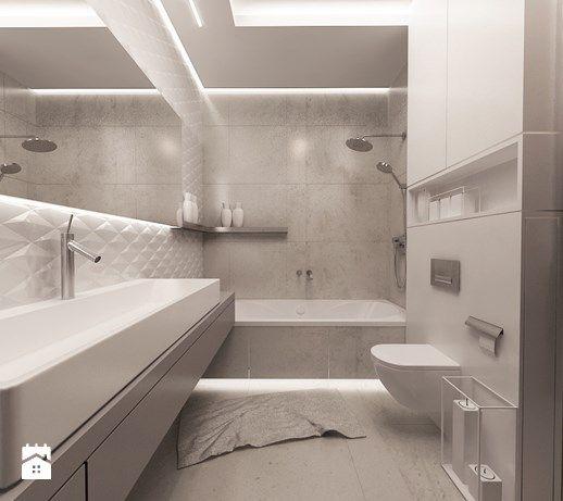 Aranżacje wnętrz - Łazienka: Styl i elegancja w łazience - Średnia łazienka bez…
