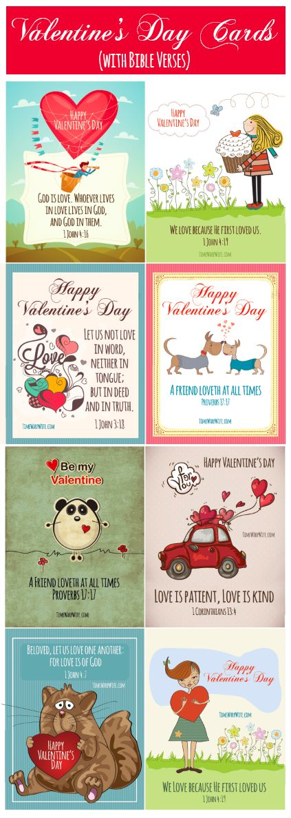Valentines with Bible Verses