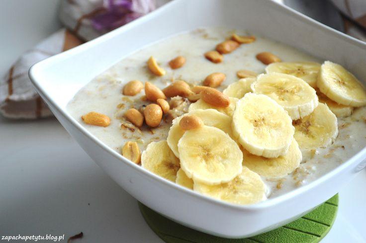 Peanut butter banana oatmeal #zapachapetytu #peanutbutter #oatmeal