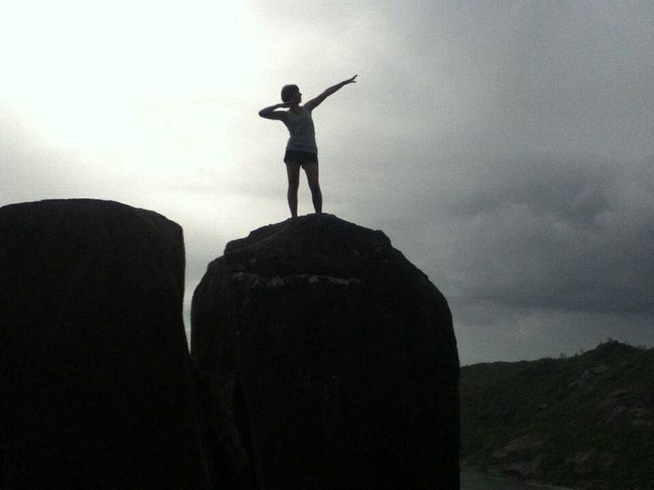 On top of what we called bum rock in the Seychelles on cap ternay