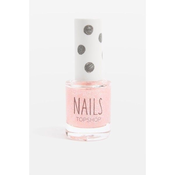 Topshop Nails in Cat's Pyjamas ($8.04) ❤ liked on Polyvore featuring beauty products, nail care, nail polish and pink