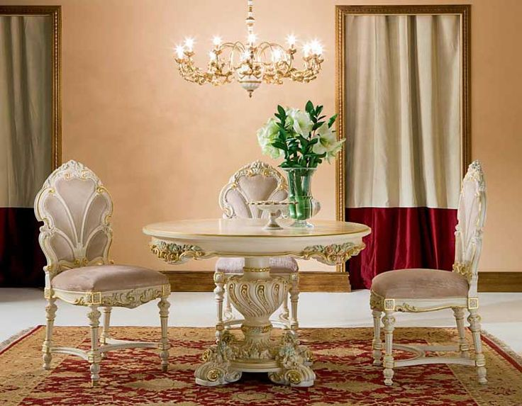 Victorian Dining Room Furniture | Victorian Round Dining Table Fidia