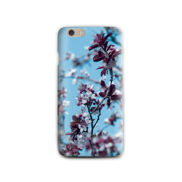 Almond Tree iPhone 6 case Spring Photography Pink Flower iPhone case Soft silicone Blue iPhone 5 case Romantic Birthday gift for her by LightBlueCases on Etsy