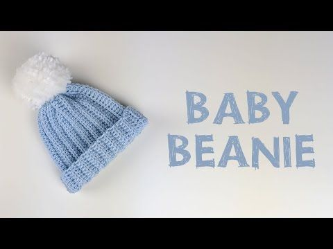 Very Easy Crochet Baby Beanie Tutorial   Croby Patterns - YouTube