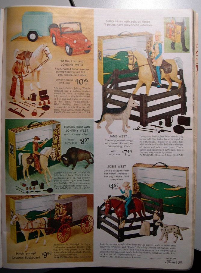 sears catalogue ad for johnny west toys best of the. Black Bedroom Furniture Sets. Home Design Ideas