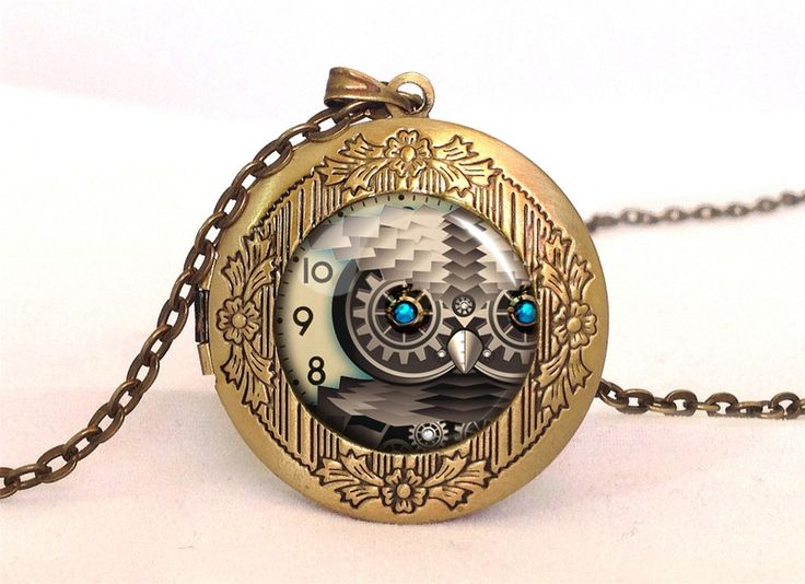 STEAMPUNK OWL Locket, 0579LPB from EgginEgg by DaWanda.com
