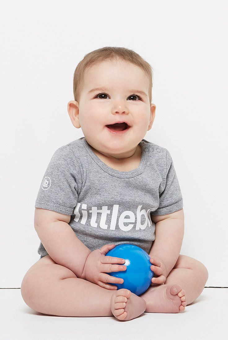 Your little ones will love their #littlebit basic tees and onsies in #greymarle. They make the perfect baby gifts. Also available in pale blue, pale pink and white. Shop the entire #littlebit range of #babyclothing #babytees at littlebit.com/baby. #cute #onsies #jumpsuits #tees #baby #onepiece #babyboy #babygirl #babybasics #basics