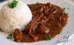 Dušené ledvinky s rýži