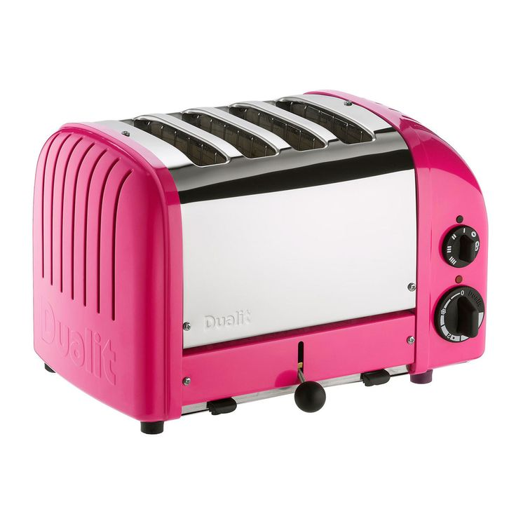 Classic 4 Slice Toaster Hot Pink...Fun COlors To Choose
