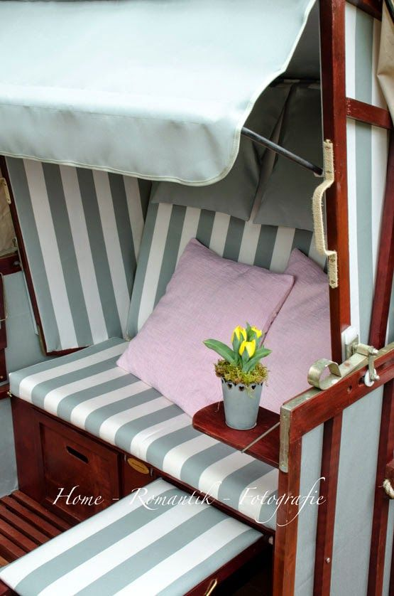 home romantik anleitung strandkorb restaurieren diy lovely garden pinterest upcycling. Black Bedroom Furniture Sets. Home Design Ideas