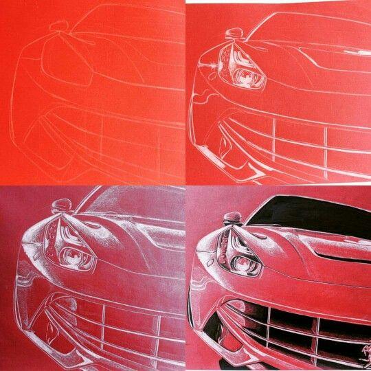 Ferrari F12 Berlinetta sketch process